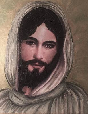 Smiling Jesus Art Print by Cena Caterine