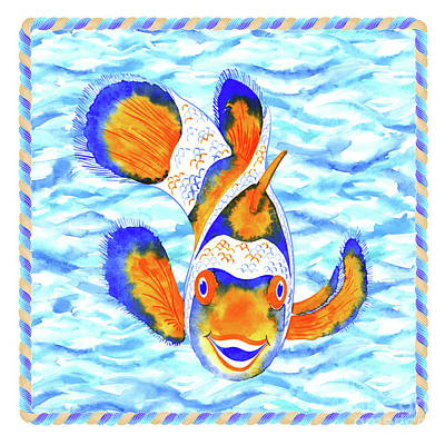 Wall Art - Painting - Smiling Koj Fish by Svetlana Titarenko
