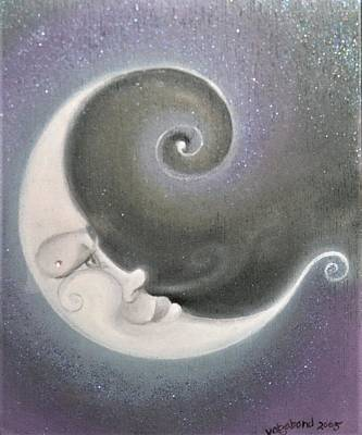 Painting - Smiling Moon by Suzn Art Memorial