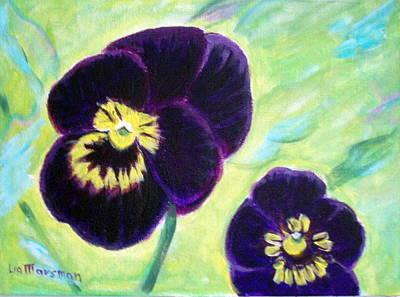 Smiling Pansy Art Print by Lia  Marsman