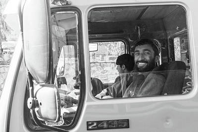 Photograph - Smiling Truck Driver by SR Green