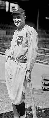 Detroit Tigers Photograph - Smiling Ty Cobb by Jon Neidert