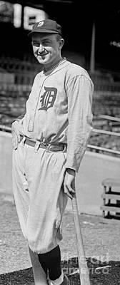 Philadelphia Athletics Photograph - Smiling Ty Cobb by Jon Neidert
