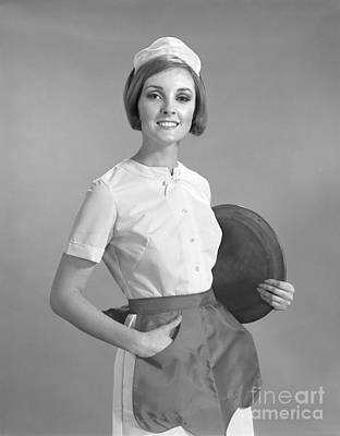 Smiling Waitress In Uniform, C.1960s Art Print by H. Armstrong Roberts/ClassicStock