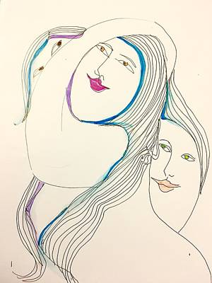 Wall Art - Drawing - Smilling by Rosalinde Reece
