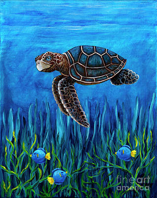 Painting - Smirking Turtle by Rebecca Parker