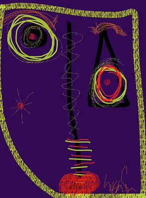 Digital Art - Smiro For Roland Hassanein by Susan Fielder