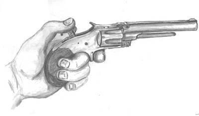 Drawing - Smith And Wesson Circa 1859 by Kevin Callahan