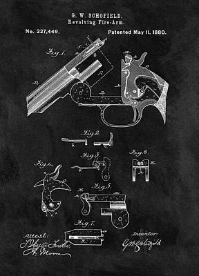 Drawing - Smith And Wesson Model 3 Patent by Dan Sproul