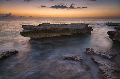 Waterscape Photograph - Smith Barcadere Grand Cayman Sunset by Adam Romanowicz