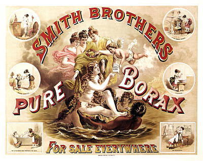 Mixed Media - Smith Brothers Pure Borax - Cleaner, Soap - Vintage Advertising Poster by Studio Grafiikka