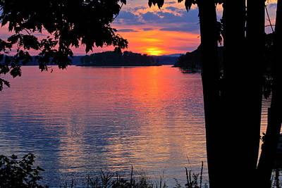 Photograph - Smith Mountain Lake Sunset by The American Shutterbug Society