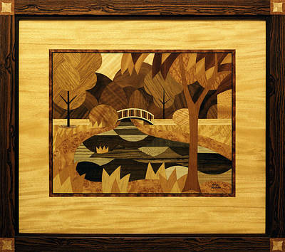 smith-park-bridge-marquetry-bruce-bodden Veneer Art on screaming art, surface art, flagstone art, round wood art, fiberboard art, tropical wood art, block art, decorative wood art, steps art, bleaching art, barnboard art, natural art, wood pulp art, polyester art, birch art, interlace art, toys art, textiles art, lacquered art, exotic wood art,