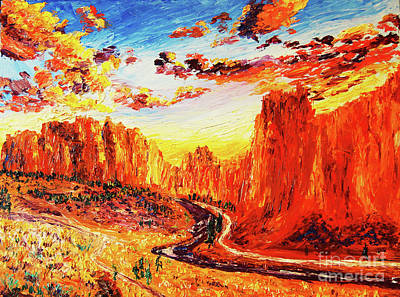 Painting - Smith Rock At Sunet by Eryn Tehan