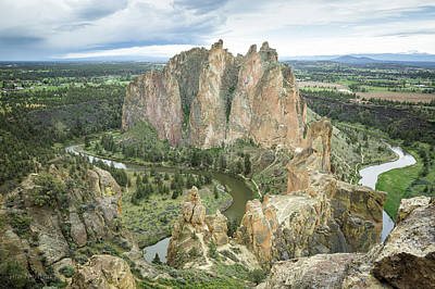 Art Print featuring the photograph Smith Rock From Misery Ridge by Tim Newton