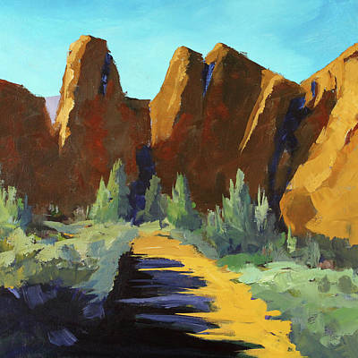 Painting - Smith Rock by Nancy Merkle