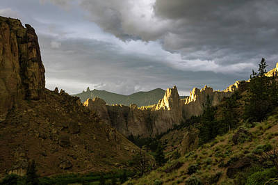 Photograph - Smith Rock Sky by Steven Clark