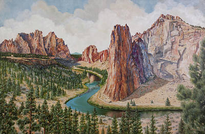 Painting - Smith Rocks by Patricia Baehr-Ross