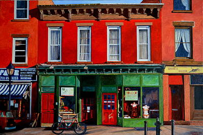 Brooklyn Storefronts Painting - Smith St. Brooklyn. Ny by Anthony Butera
