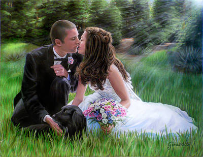 Painting - Smith Wedding Portrait by Jane Girardot
