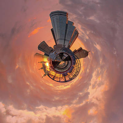 Photograph - Smithfield St Bridge Little Planet  by Emmanuel Panagiotakis