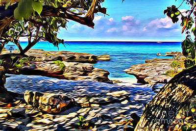 Caribbean Sea Digital Art - Smiths Cove by Carey Chen