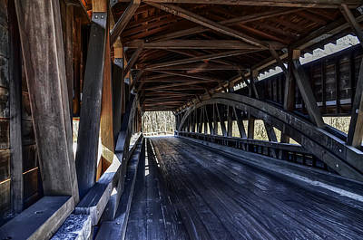Ford Photograph - Smiths Covered  Bridge Interior by Bill Cannon