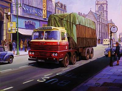 Streetscenes Painting - Smith's Scammell Routeman II by Mike  Jeffries