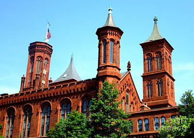Photograph - Smithsonian Castle 1 by Randall Weidner