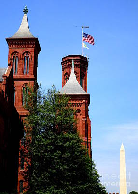 Photograph - Smithsonian Castle 3 by Randall Weidner