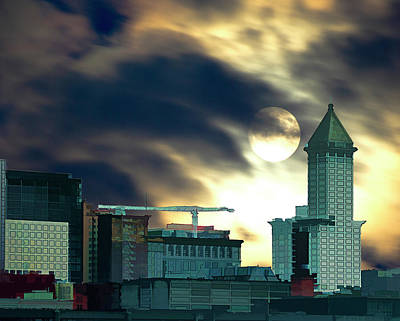 Art Print featuring the photograph Smithtower Moon by Dale Stillman