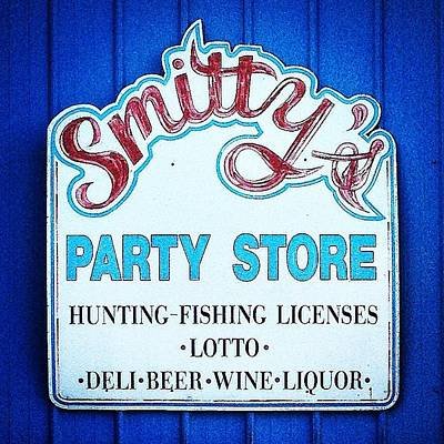 Photograph - Smitty's Party Store Back Entrance by Chris Brown