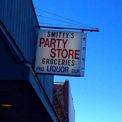 Photograph - Smitty's Party Store Front Entrance by Chris Brown