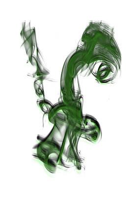 Digital Art - Smoke 01 - Green by Bob Williams