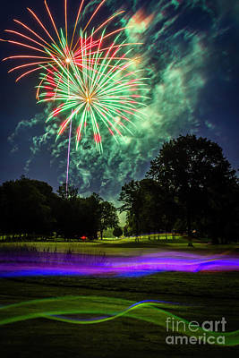 Photograph -  Celebrate - Smoke And Fireworks by Joann Long