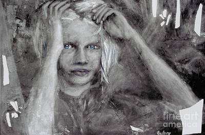 Little Girls Mixed Media - Smoke And Mirrors by Marcy Orendorff