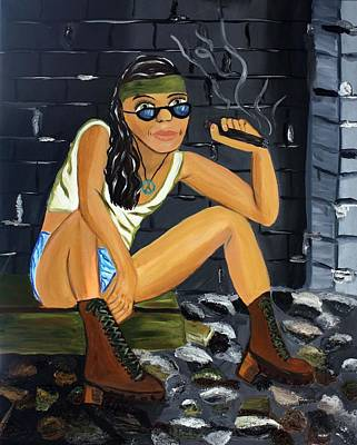 Tomboy Mixed Media - Smoke Break  by Victoria  Johns