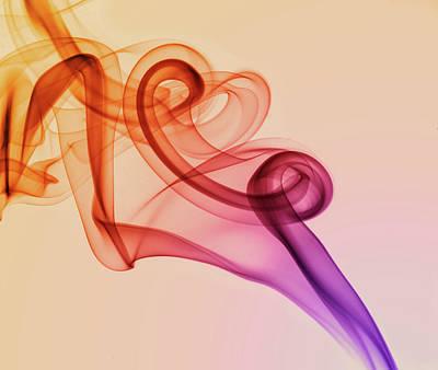 Photograph - Smoke Compositions In Warm Tones by Jaroslaw Blaminsky