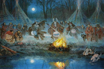 Painting - Smoke Dancers by Richard Hinger