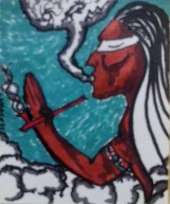 Indian Tribal Art Drawing - Smoke by Dara