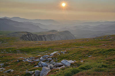 Photograph - Smoke Filled Sunrise From Mt. Evans Highway by Ray Mathis