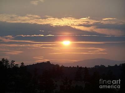 Photograph - Smoke Filled Sunset by Tony Baca