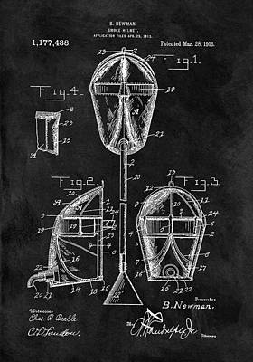 Drawing - Smoke Helmet Patent by Dan Sproul