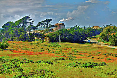 Hdr Photograph - Smoke Into Clouds by SC Heffner