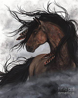 Painting - Smoke Majestic Horse by AmyLyn Bihrle