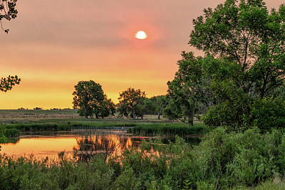Photograph - Smoke Makes For A Nice Sunrise by Tony Hake