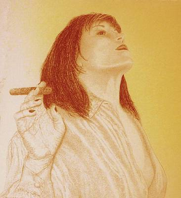Drawing - Smoke N Fire by Tony Ruggiero