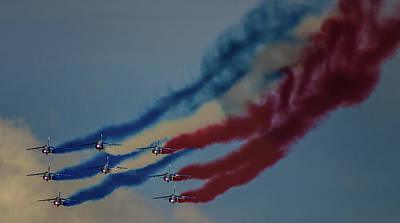 Jets Photograph - Smoke On by Martin Newman