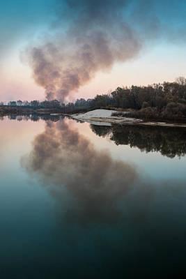 Smoke On The Water. Horytsya, 2014. Art Print