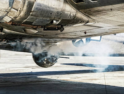 Photograph - B-17 Madras Maiden Smoke Out by Sandra Selle Rodriguez